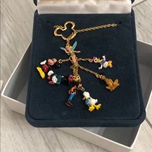 Mickey & Friends Gold Necklace